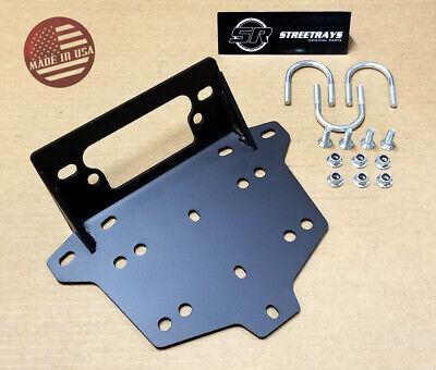 [SR] Winch Mount Bracket Plate Kit for 2013-18 Can-Am Maverick 1000R & Max - Warn Winch Mounting Plate