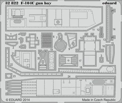 Eduard Accessories 32822 - 1:32 F-104C Gin Bay For Italeri - Ätzsatz - Neu