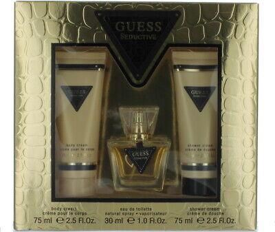 Seductor de Guess para Mujer Set - Edt Spray 29.6ml Ml + BC 74ml+ Sc 74ml - Sw