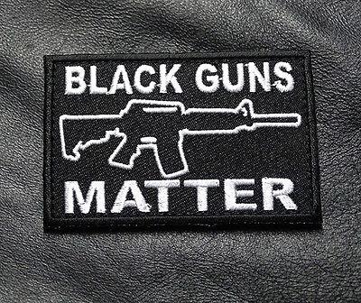 BLACK GUNS MATTER TACTICAL MORALE 3 INCH MILSPEC ARMY HOOK  PATCH