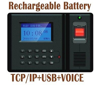 Tcpip Fingerprint Time Clock Employee Payroll Recorder Punch With Battery