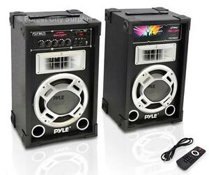 CRANK THE PARTY TO MAXIMUM WITH A PAIR OF THESE HOT BABIES!!   Powered Speaker System - Brand New from Pyle Audio