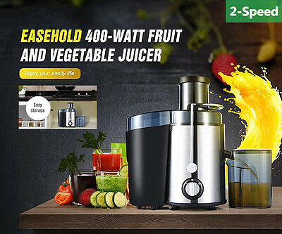 Stainless Steel Whole Fruit Dual Speed Juicer Vegetable Citrus Juice Extractor