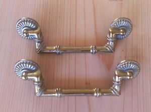 Drawer Pull - Bamboo Style Polished Brass w/White Highlights (2 pieces)