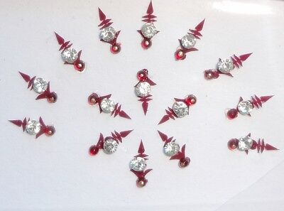 45 RED CRYSTAL Bindis BODY Art Doll Fashion JEWELRY Tattoos Stickers BellyDance