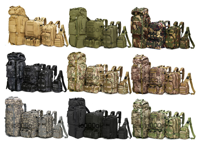 8L/10L/30L/55L/80L Outdoor Military Tactical Camping Hiking Trekking Backpack
