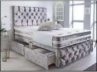 🔴🔵CLEARANCE SALE LUXURY DIVAN AND SLEIGH BEDS WITH MATTRESS FREE NEXT DAY DELIVERY 🔴🔵