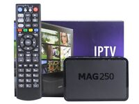 Mag 250 IPTV Set Top Box With 3 Months Subscription. Over 1000 Channels 3PM Premier League Games