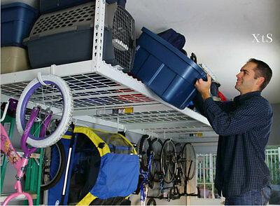 Solid Garage Ceiling Storage Overhead Racks Organize Wall Shelves Tools System - Overhead Garage Storage Shelves