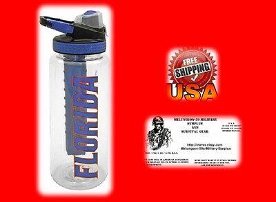 32-oz Florida Water Bottle with Freezer Stick - NEW - FREE U.S.A. (Freezer Stick Bottle)