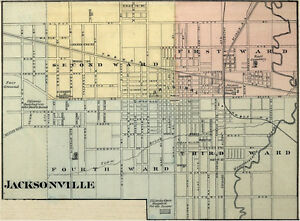 jacksonville illinois morgan co il 1876 map genealogy. Black Bedroom Furniture Sets. Home Design Ideas