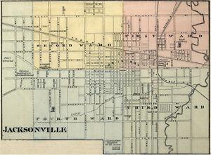 jacksonville illinois morgan co il 1876 map genealogy. Black Bedroom Furniture Sets. Home Design Ideas