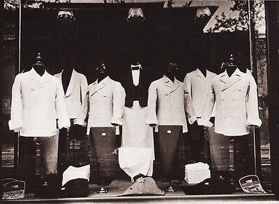 1900/63 Vintage Restaurant Uniform Fashion Paris France Photo EUGENE ATGET 11x14