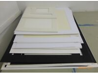 Job lot selection of pre cut white cream & black mount boards Collection E3 2NG