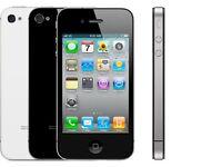 Apple iPhone 4-8gb black/white mix (unlocked) smartphone