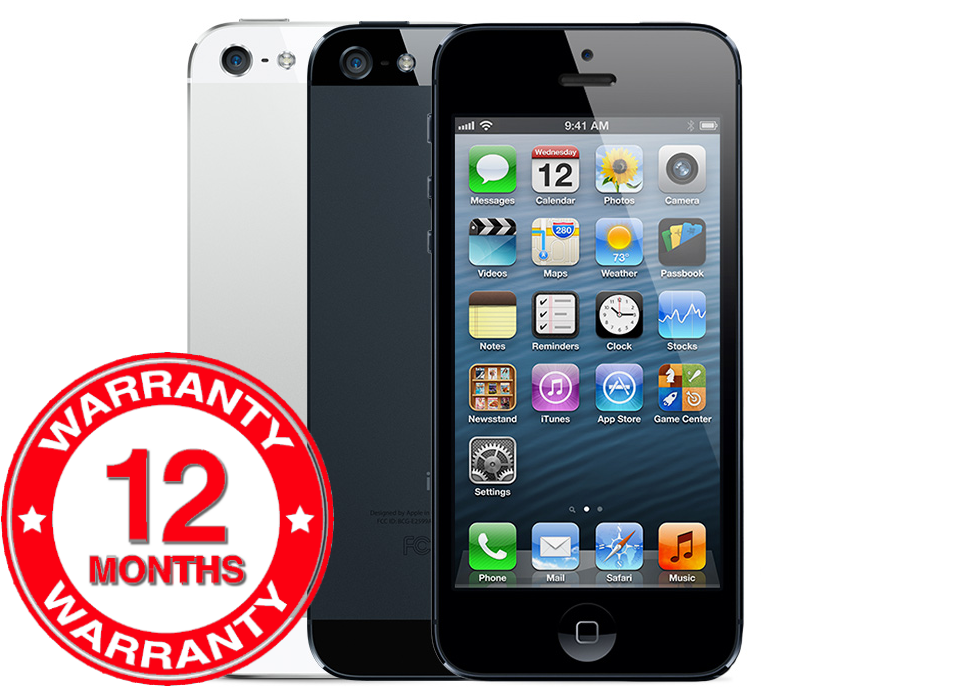 SELLER REFURBISHED APPLE IPHONE 5 - 16GB 32GB 64GB - UNLOCKED SIM FREE SMARTPHONE VARIOUS COLOURS