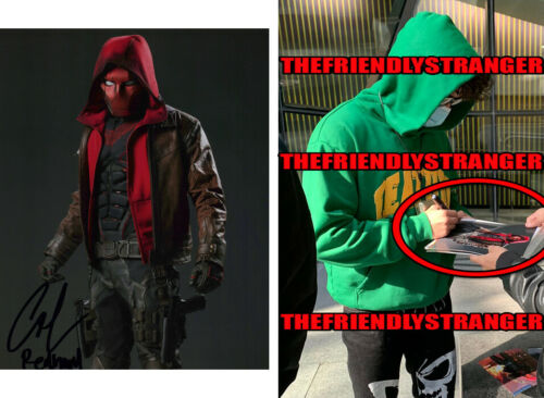 """CURRAN WALTERS signed Autographed """"TITANS"""" 8X10 PHOTO a EXACT PROOF Red Hood COA"""