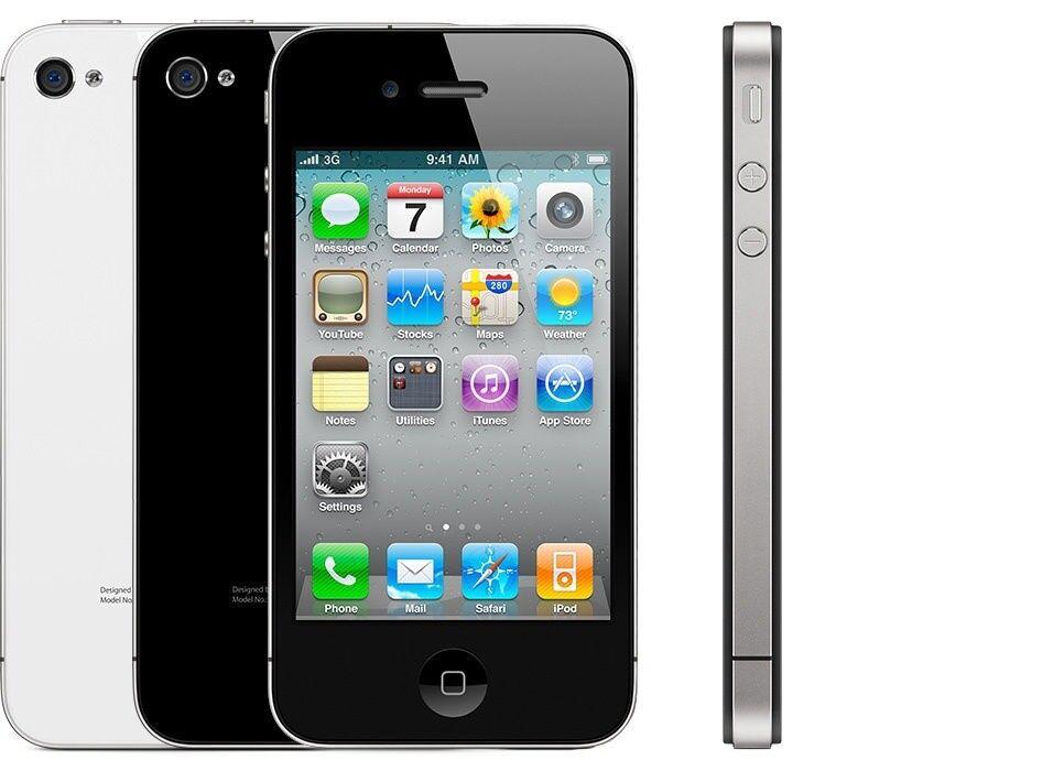 iPhone 4 unlock -8gb unlock black/white mix (unlocked) smartphone
