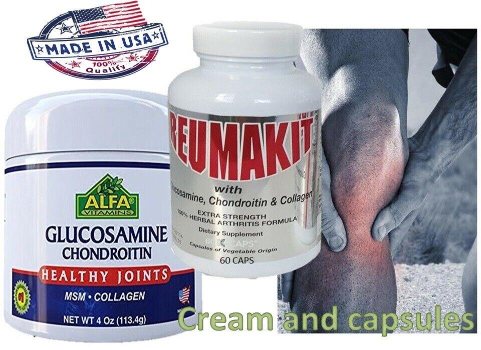 Suplemento Dietario Dolor Muscular Articulaciones Flexibilidad Reuma kit