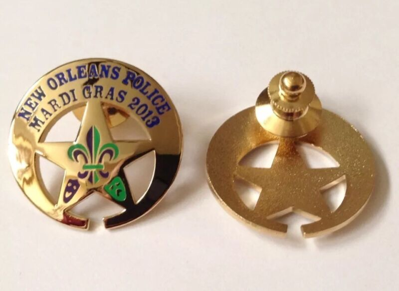 NEW ORLEANS POLICE PD MARDI GRAS NOPD MINI BADGE PIN TIE TACK 2013 CARNIVAL NOPD