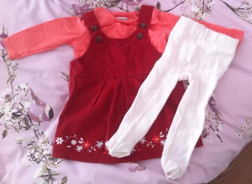 Baby Girls 3 Piece Outfit - 3-6 months
