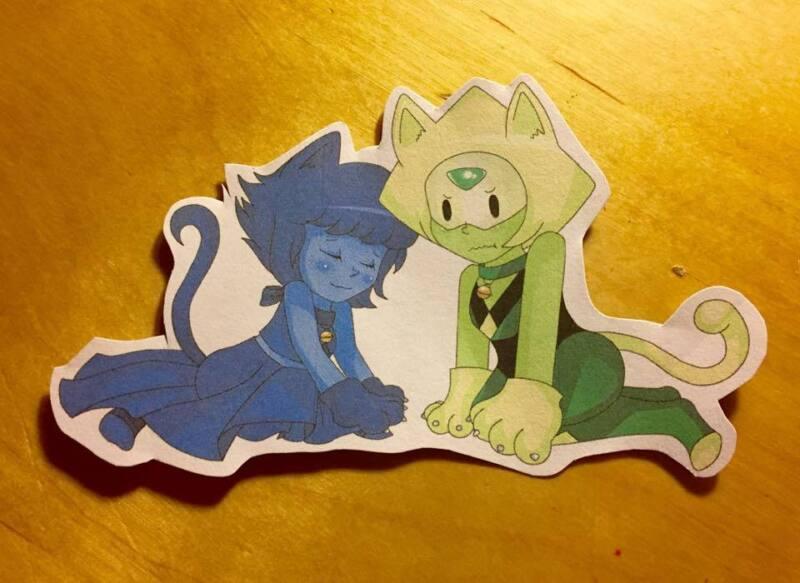 *NEW* Cute *Steven Universe* Cat Kitten Lapis Lazuli Peridot Lapidot Sticker