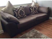 DFS 4 & 3 Seater sofas