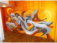 Professional graffiti mural artists to hire