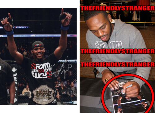 "JON JONES signed Autographed ""UFC CHAMP"" 8X10 PHOTO f EXACT PROOF Bones GOAT COA"