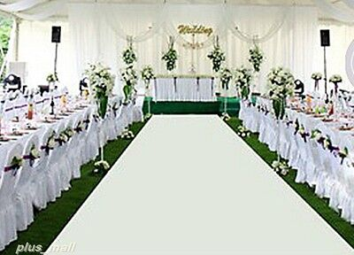 White Wedding Aisle Runner Ceremony Decoration Marriage ...