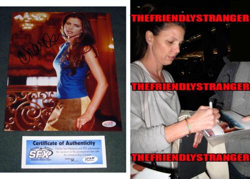 "CHARISMA CARPENTER signed Autographed ""BUFFY"" 8X10 PHOTO - PROOF  SEXY Angel COA"
