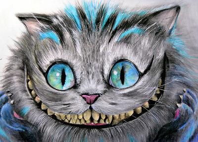 BRAND NEW Lowbrow Art Company CHESHIRE CAT CANVAS GICLEE PRINTS MADE USA TATTOO](Cheshire Cat Tattoo)