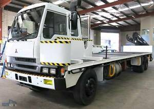 Mitsubishi FV Island Cab With Hiab Crane, 20ft Container Pins Silverwater Auburn Area Preview