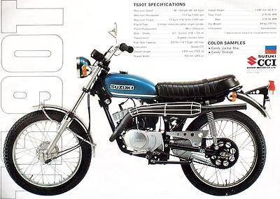 1971 Suzuki Ts90t Sales Specs Ad/ Brochure