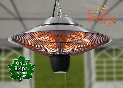 Ceiling Mounted Electric Halogen Patio Heater Infra Red 1500w Garden Outdoor