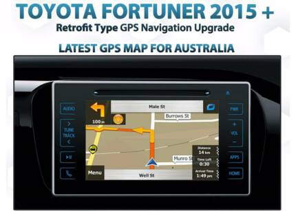 Toyota Hilux Fortuner Latest Map GPS sat NAV built-in retrofit