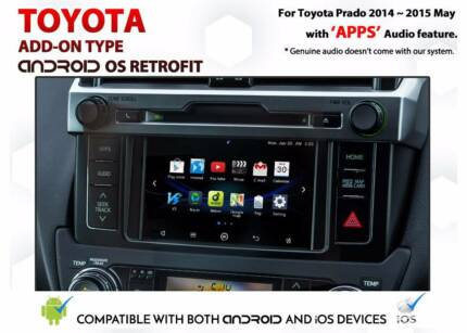 Toyota Prado 2014 to 2015 / Android OS GPS Retrofit Service