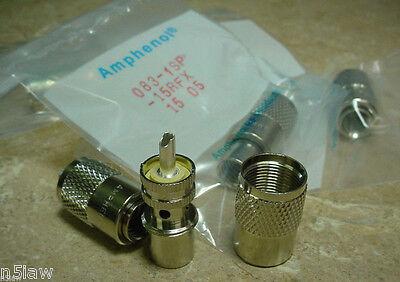Factory Plug In Bundle - 6 Amphenol PL-259 UHF Plugs RG-8, 213, 8214, 9913, LMR-400 in Factory Packags