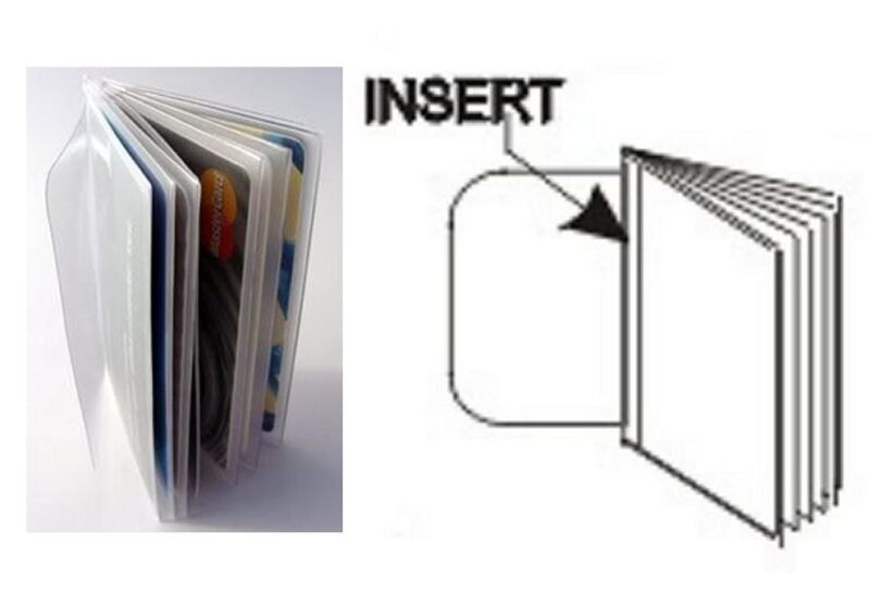 USA Quality 6 Page Vinyl Trifold Wallet Insert Pictures / Credit Card FAST SHIP
