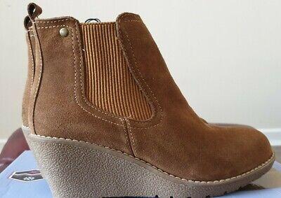 "Khombu ""Liz"" - Memory Foam Suede Ankle Boots - Chestnut  size  4"