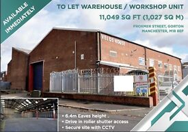 Modern high bay unit & Office suite- close to M60 & Manchester City Centre - 11049 sq ft