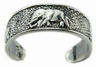 Elephant sterling silver toe rings SET OF 2