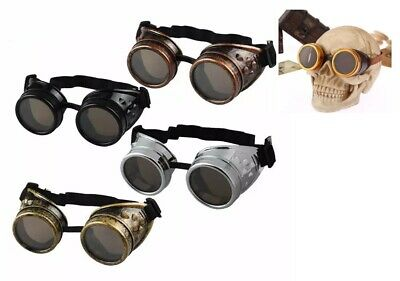 Aviation Biker Motorcycle Riding classes Windproof Steampunk SunGlasses Goggles](Aviator Goggles)