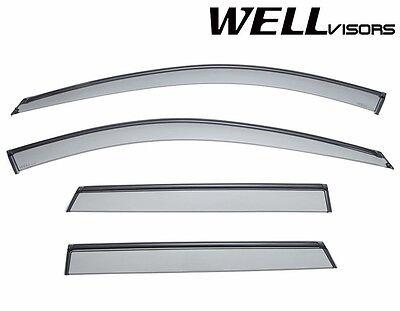 WellVisors BLACK Trim Side Window Visors Rain Guard Deflectors For 06-13 Audi A3