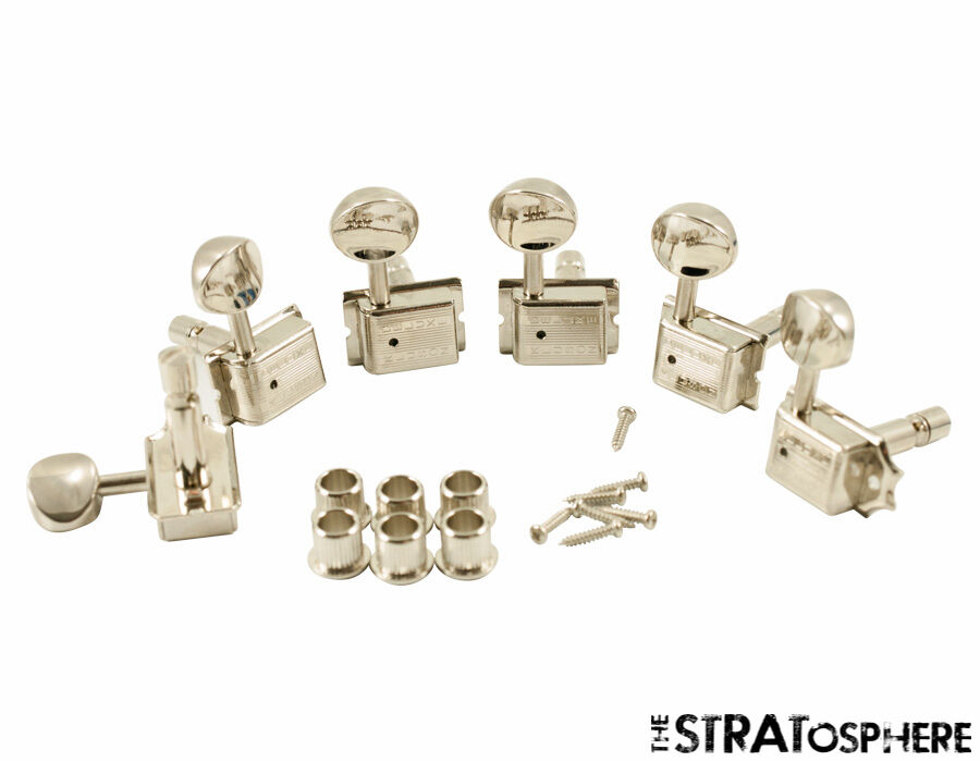 6 In Line Oval Metal Button Kluson Locking Tuners For Fender USA Standards