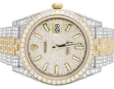 Mens Rolex Datejust II Jubilee 126333 18k/Steel 41 MM Diamonds Watch (18.75 Ct)