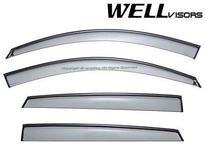 Fit 08-14 BMW E71 X6 WellVisors Smoke Black Trim Window Visors Rain Guard