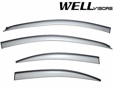 WellVisors For 12-Up Chevrolet Sonic Sedan BLACK Trim Side Vents Window Visors