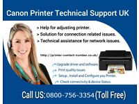Canon Printer Customer Support Number UK 08007563354