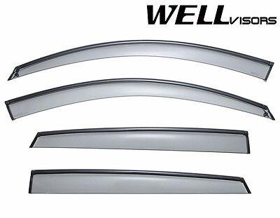 WellVisors For 08-14 BMW X6 BLACK Trim Side Window Visors Rain Guard Deflectors